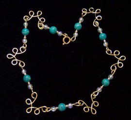 Gold Wire Anklet